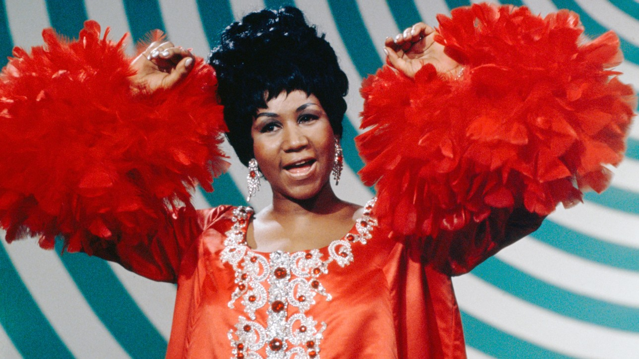 THE ANDY WILLIAMS SHOW -- Aired 5/4/69 -- Pictured: Aretha Franklin  (Photo by Fred A. Sabine/NBC/NBCU Photo Bank via Getty Images)